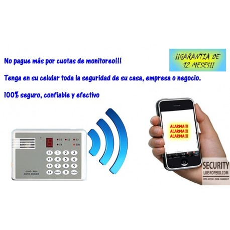 Discdor de Alarma con SIM Card para 8 Números